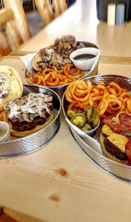 Enjoy great food at the Ice Cracking Lodge.
