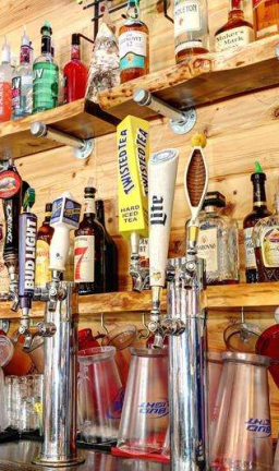 Cold beer is available at Ice Cracking Lodge.