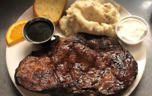 Order a juicy and succulent steak at the Ice Cracking Lodge in Ponsford, Minnesota.