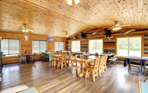 The Bears Den at the Ice Cracking Lodge can get reserved for special events.