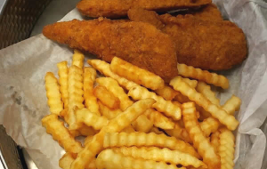 Don't miss out on the chicken strips at the Ice Cracking Lodge.