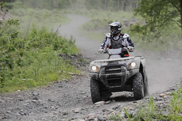 Great ATV and snowmobile trails around Ice Cracking Lodge.