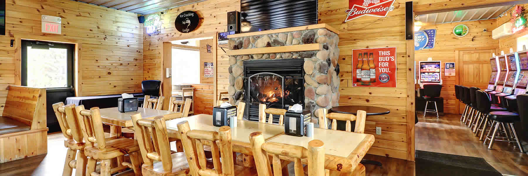 Enjoy dining and socializing at the Ice Cracking Restaurant near Ponsford, Minnesota.