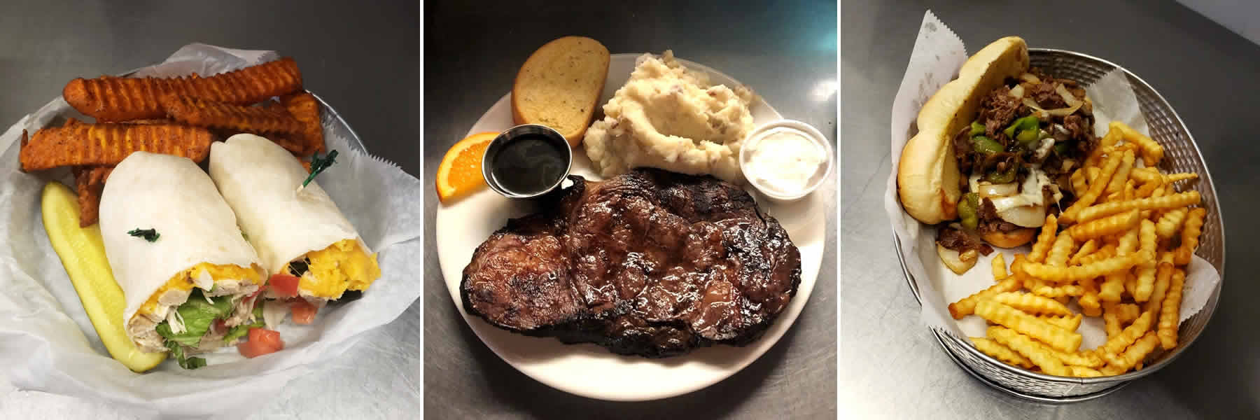 Enjoy a fantastic menu of steaks, burgers, sandwiches, and more at the Ice Cracking Lodge in Ponsford, Minnesota.