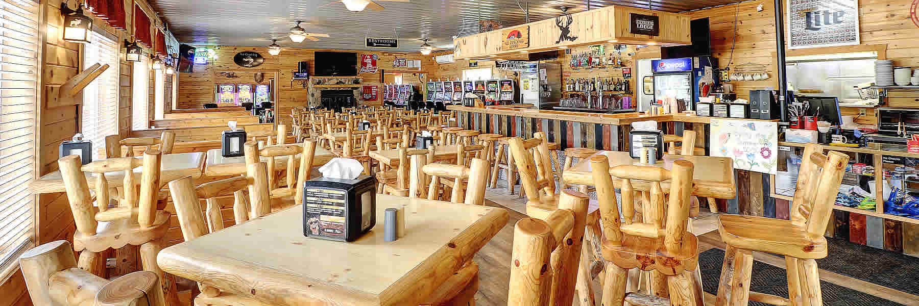 The Ice Cracking Lodge is a beautiful restaurant near Ponsford, Minnesota.