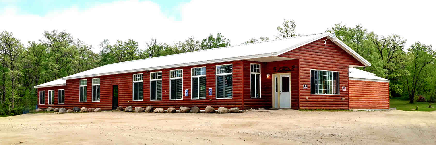 The Ice Cracking Lodge is located close to Ponsford, Minnesota.